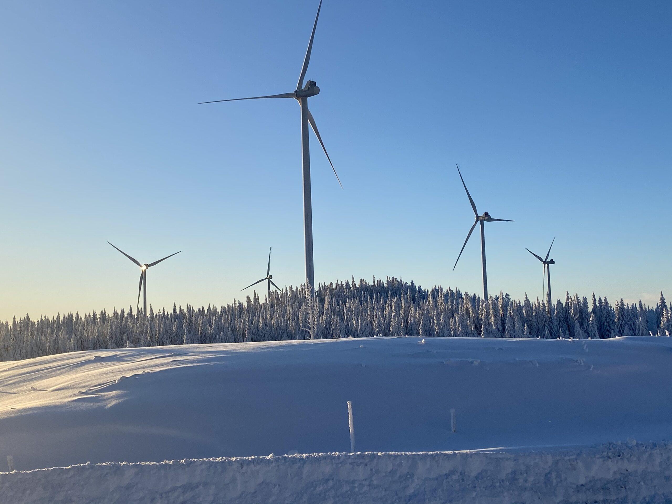 Björnberget vindkraftpark Ånge